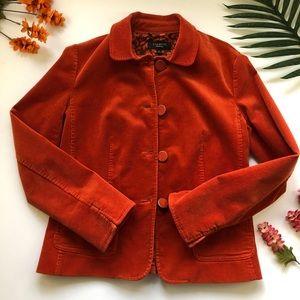 Orange corduroy Talbots blazer 70s style
